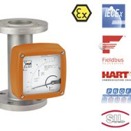 PTFE-vuorattu metalliputkirotametri
